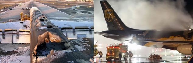 lithium battery fires on aircraft UPS