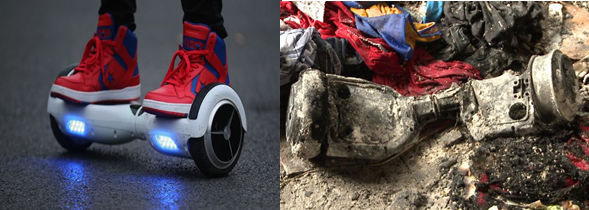 lithium battery fires on aircraft caused by Hoverboard