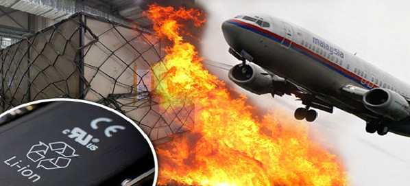 lithium battery fires on aircraft possible cause crash Maylaysian MH370